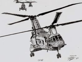 CH-46E Commission by shank117