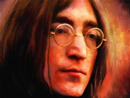 Portrait of John Lennon by Les-Allsopp
