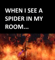 When I see a spider in my room... by GenZelda