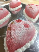 Valentine cake - close up by Gwendelyn