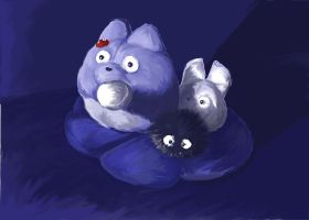 Totoro stuffed animal by Hyperpsychodork