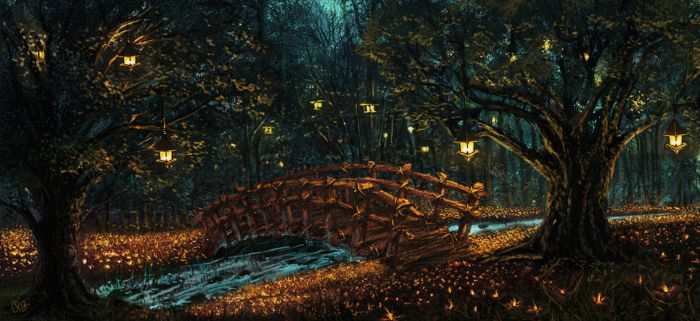 Mini Glowing Forest... by sithness