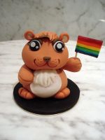 Gay Hamster Topper by Sliceofcake