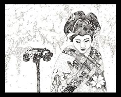 Geisha and lamp by Musical-Wolf