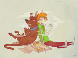 Scoob and Shag by WhitestKid