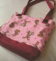 Bunny tote bag by Snowberrylime