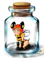 Bee in a  bottle by Aprion