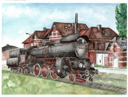 36. Steam locomotive Ol49 by czajka