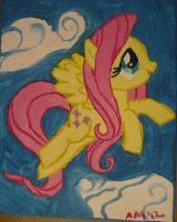 MLP: Fluttershy Painitng by Kittychanann