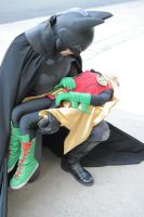 Batman mourns the Death of his Son Damian by ComicChic19
