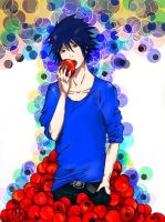 Sasuke and tomatoes by Nookiani