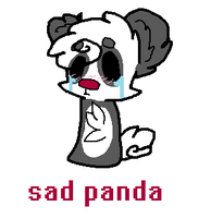 sad panda by DalmationCat