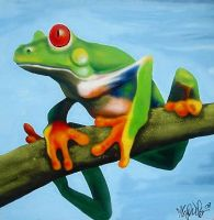Green Tree Frog by LuxNova
