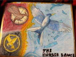 Hunger Games Trilogy Colored by BooksandCoffee007