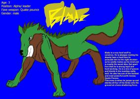 Blade earth wolf reference by HedwigOwl