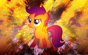 Scootaloo HEX Wallpaper by EnemyD