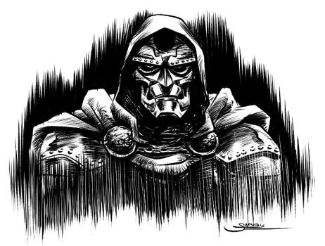 Doom Inktober 22 by Sgrum