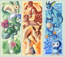 Pokemon bookmarks by chibipirate