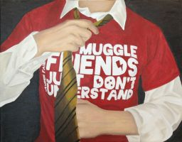 Muggle Friends Painting by BookWizard