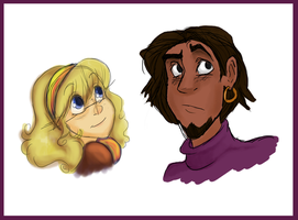 Younger Clopin and Elodie by Aspendragon