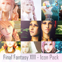 Final Fantasy XIII Icon Pack! by AutumnVisionary
