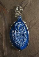 barn owl pendant by life--in-technicolor