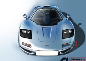 McLaren F1 illustration by TsTdesign