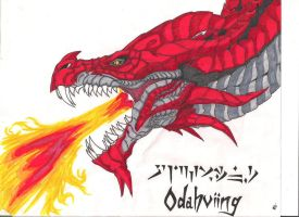 Winged Snow Hunter: Odahviing by The-MuseDragon