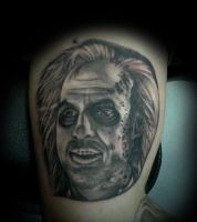 Beetlejuice Portrait Tattoo by PapaDing