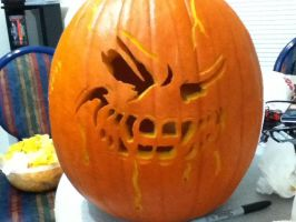 Jack-O-Lantern 2011 Unlit by KAIJUfreak