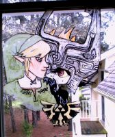 Link/Midna Window Painting by Flurrin