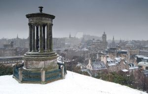 Edinburgh in the snow by kharashov