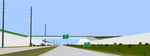 Cement walled freeway by OceanRailroader
