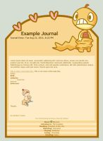 Scraggy journal skin by xlolfishx