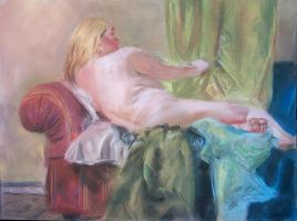 Woman Reclining by EricaVee