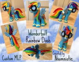 Wonderbolt Rainbow Dash - MLP Custom by Nsomniotic