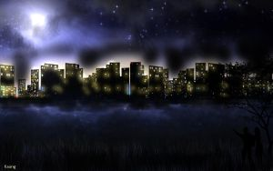 Urban Night Sky by mrkmhtet