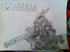 Appleseed , Deunan and Briareos by TrowaBarton05