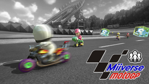 A Banner of the Miiverse Moto GP by chunzprocessor