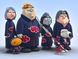 Family Guy Akatsuki Blue by zodevstudios