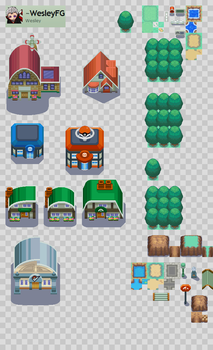 FULL KANTO IN BW style TILESET by WesleyFG