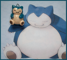 Chibi-Charms: Pokemon Snorlax by MandyPandaa