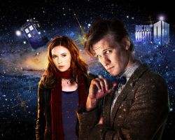 Doctor Who Wallpaper - 11th Doctor and Amy by WERA1166