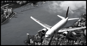 JAL over Hong Kong by angelswake-tf