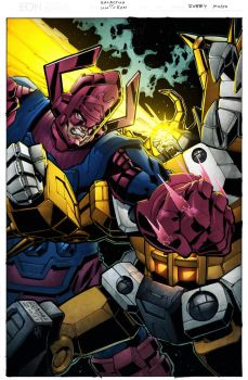 Galactus vs Unicron by spidermanfan2099