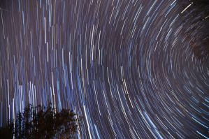 2012 Geminid Star Trail 2 by blackismyheart90