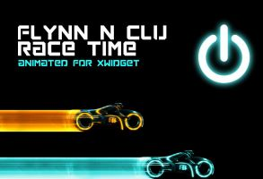 Tron and Clu Race Time (animated) for xwidget by jimking