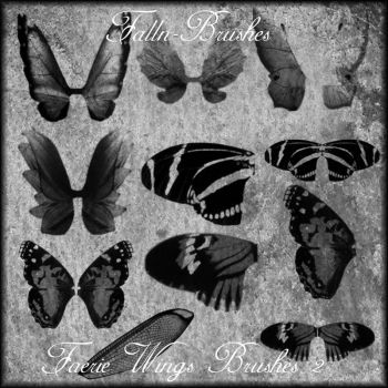 Faerie Wings Brushes II by Falln-Stock
