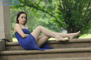 Yesenia Pink at the Park by PantyhoseClass