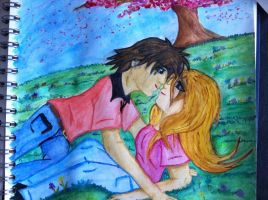 Lying in the grass together by 95JEH